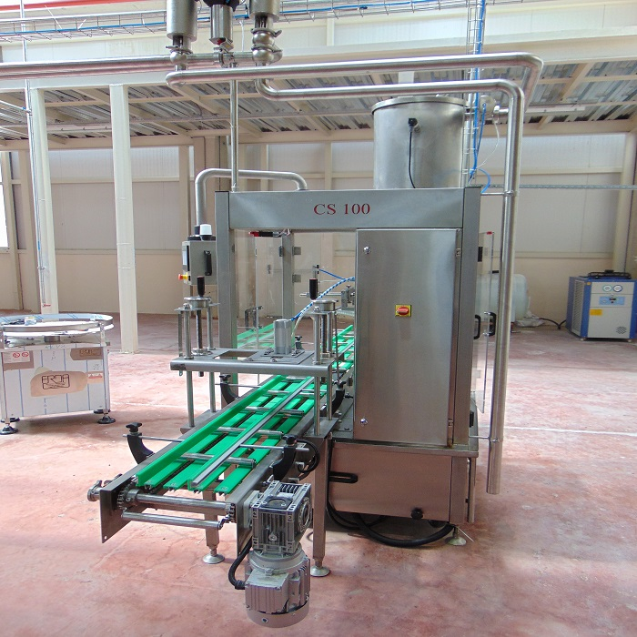 CS100 TYPE CONVEYOR SYSTEM SINGLE TIN FILLING MACHINE