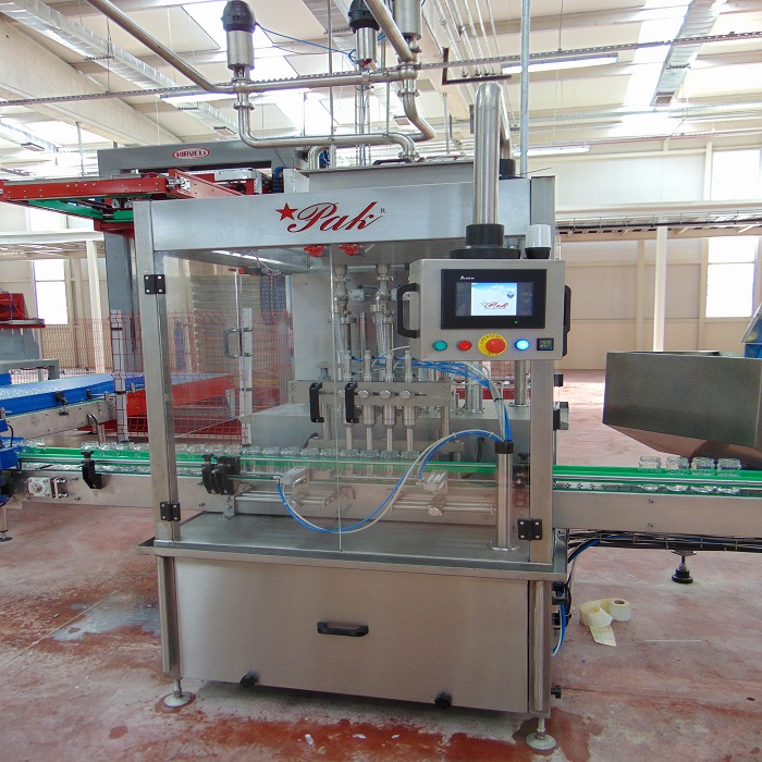 CS400 TYPE CONVEYOR SYSTEM 4-PIECE FILLING AND CAP CAP MACHINE